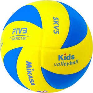 Мяч волейбольный Mikasa SKV5, размер 5, цвет желт-голуб мяч для пляжного волейбола mikasa vxs zb b р 5