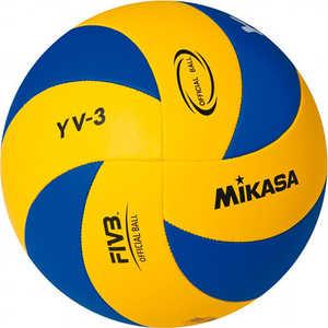 Мяч волейбольный Mikasa YV-3, размер 5, цвет сине-желтый