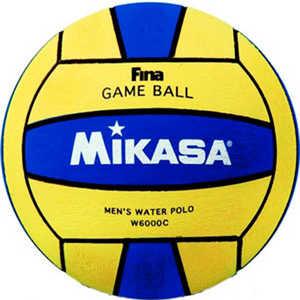 Мяч для водного поло Mikasa W6000C, размер мужской, цвет желто-синий мяч для водного поло mikasa w6609c жен размер