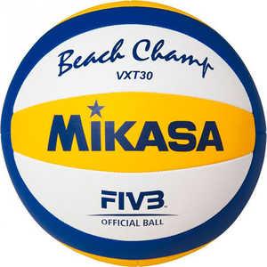 Мяч для пляжного волейбола Mikasa VXT30, размер 5, цвет бел-син-желт купить недорого низкая цена  - купить со скидкой