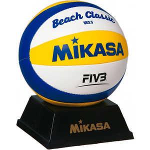Мяч для пляжного волейбола Mikasa сувенирный VX3.5, цвет бело-желто-синий