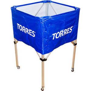 Тележка для мячей Torres SS11022, на 25-30 шт., цвет сине-белая