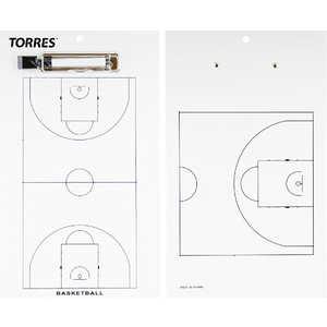 Тактическая доска для баскетбола Torres TR1003B, белая цена