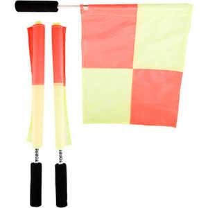 Флаги для боковых судей Torres SS1031, комплект из двух флагов, оранжево-желтые фото