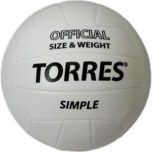 Мяч волейбольный любительский Torres Simple арт. V30105, размер 5, бело-черный