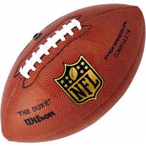 Мяч для американского футбола Wilson (арт.WTF1825), цвет: коричневый