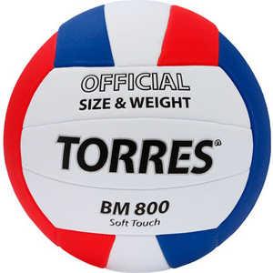 Мяч волейбольный тренировочный Torres BM800 арт. V30025, размер 5, бело-сине-красный
