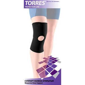 Суппорт колена открытый Torres (арт. PRL6004XL), размер XL, цвет: черный купить недорого низкая цена  - купить со скидкой
