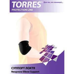 Суппорт локтя Torres (арт. PRL6008S), размер S, цвет: черный купить недорого низкая цена  - купить со скидкой