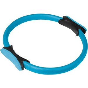 Кольцо для пилатеса Torres (арт. YL5004), диаметр 38 см, цвет: голубо-черный