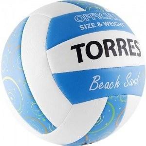 Мяч волейбольный любительский для пляжа Torres Beach Sand Blue арт. V30095B, размер 5, бел-голуб-мультиколор цена