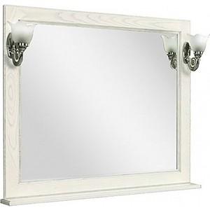 Зеркало Акватон Жерона 105 с полкой, белое серебро (1A158802GEM20) тумба с раковиной акватон жерона 85 белое золото 1a158501gem40 7327206000