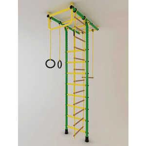 Детский спортивный комплекс Лидер Т-02 М зелено/желтый купить недорого низкая цена  - купить со скидкой