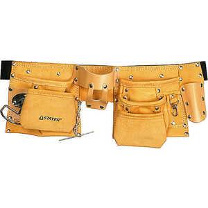 Пояс для инструментов Stayer 10 карманов 3 подвески кожаный Master (38512) фото