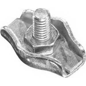 Зажим троса Зубр одинарный оцинкованный 4мм ТФ5 100шт (4-304435-04) зажим троса simplex 4мм