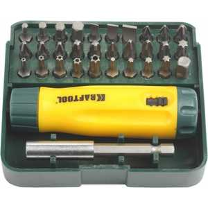 Набор Kraftool отвертка реверсивная с битами и адаптером Cr-V 32 предмета (26142-H32)
