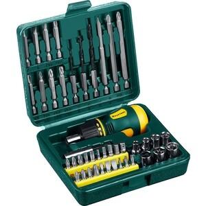 Отвертка реверсивная с битами и торцевыми головками Kraftool 43 предмета (25556-H43)