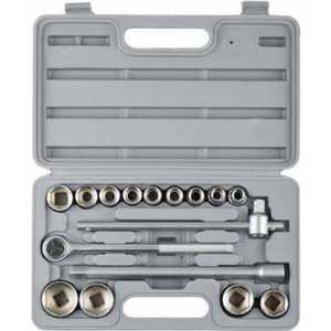 Набор головок торцевых Stayer 10-32мм 1/2 16 предметов Standard (27583-H16) набор инструментов kraftool для обслуживания велосипеда 16 в 1 26182 h16