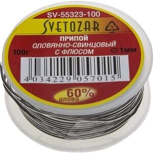 Припой СВЕТОЗАР оловянно-свинцовый 60% Sn/40% Pb 100гр (SV-55323-100) припой светозар sv 55325 100
