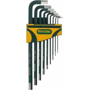 Набор ключей шестигранных Kraftool 1.5-10мм 9шт Industrie (27443-H9)