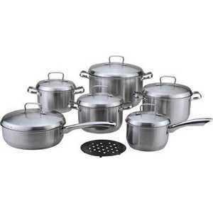Набор посуды Bekker DeLuxe из 13-ти предметов ВК-2862 кастрюля lara lr02 021 18 см 2 3 л нержавеющая сталь