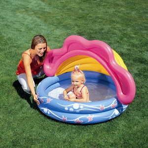 цена на Bestway Надувной бассейн с навесом 142х86см 3-6лет 51098