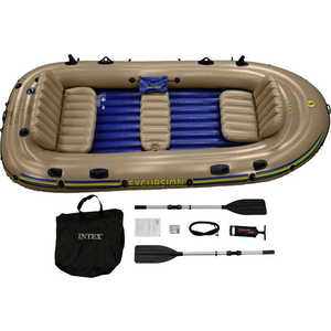 Надувная лодка Intex Экскурсия-5 (до 455кг) 366х168х43см + весла/насос, (68325) цена