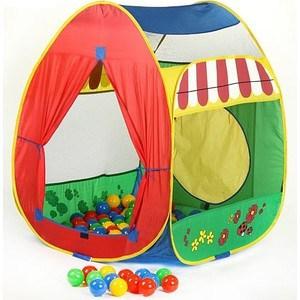 Игровой домик Calida Домик 84х86х107см и 100 шаров 639 игрушки для улицы игровая палатка с мячиками 100 шт calida вилла 85х85х110см