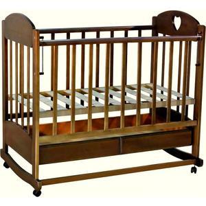 Кроватка Ведрусс Иришка 2 ящик/колеса/качалка сердечко/темный орех лакокрасочные материалы