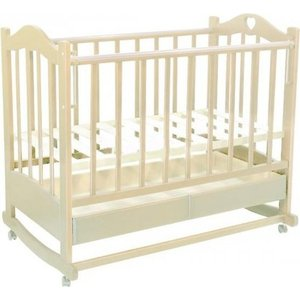 Кроватка Ведрусс Лана 2 ящик/колеса/качалка сердечко/слоновая кость стоимость