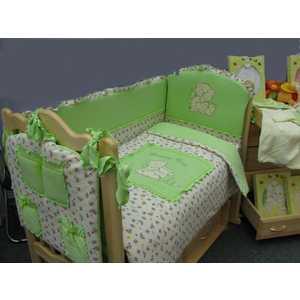 Комплект в кроватку Золотой гусь Сладкий сон 7 предметов (зеленый) 1094 постельный сет 7 предметов золотой гусь степашка зеленый