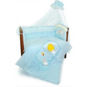 Комплект в кроватку Золотой гусь Веселые овечки 7 предметов (голубой) 1272 балдахин kidboo серии elephant 150 450 см pink