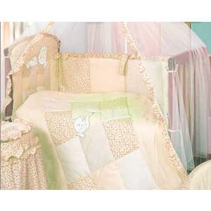 Комплект в кроватку Золотой гусь Кошки-мышки 7 предметов (желтый/бежевый) 1703 комплект в кроватку золотой гусь кошки мышки 7 предметов розовый 1706