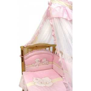 Комплект в кроватку Золотой гусь Лапушки 7 предметов (розовый) 1616 комплект в кроватку 7 предметов perina венеция лапушки голубой в7 02 4