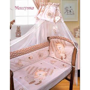 Комплект в кроватку Золотой гусь Мишутка 7 предметов (бежевый) 1903 постельный сет 7 предметов золотой гусь сладкий сон розовый