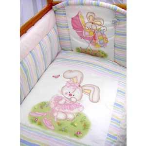 Комплект в кроватку Золотой гусь Радужный 7 предметов (розовый) 1166 комплект в кроватку золотой гусь кошки мышки 7 предметов розовый 1706