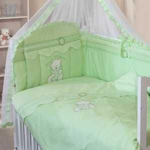 Комплект в кроватку Золотой гусь Сабина 7 предметов (зелёный) 1414 постельный сет 7 предметов золотой гусь сладкий сон розовый