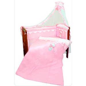 Комплект в кроватку Золотой гусь Сабина 7 предметов (розовый) 1416