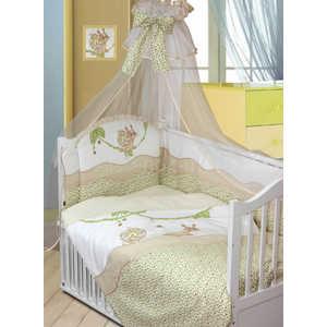 Комплект в кроватку Золотой гусь Улыбка 7 предметов (бежевый) 1593 пеленка непромокаемая на резинке золотой гусь однослойная