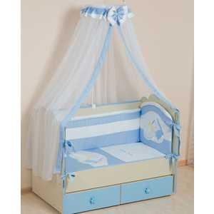 Комплект в кроватку Сдобина Мой маленький друг 7 предметов (голубой) 50.1