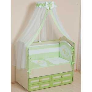 Комплект в кроватку Сдобина Мой маленький друг 7 предметов обруч (салатовый) 50.1