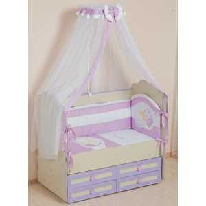 Комплект в кроватку Сдобина Мой маленький друг 7 предметов (фиолетовый) 50.1