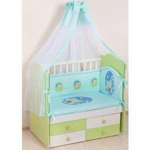 Комплект в кроватку Сдобина 7 предметов (салатовый) 59 комплект в кроватку сдобина летнее утро 7 предметов бежевый 91