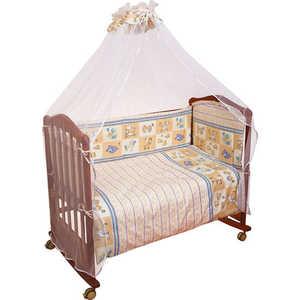 Комплект в кроватку Сонный Гномик Считалочка 120х60см 7 предметов (бежевый) 705