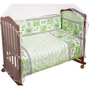Комплект в кроватку Сонный Гномик Считалочка 120х60см 7 предметов (салатовый) 705