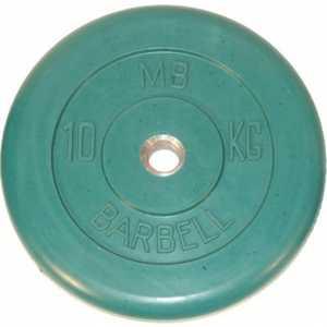 Диск обрезиненный MB Barbell 31 мм 10 кг зеленый Стандарт