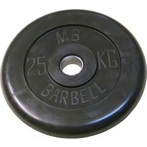цена на Диск обрезиненный MB Barbell 31 мм 25 кг черный Стандарт
