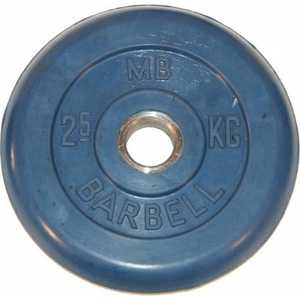 Диск обрезиненный MB Barbell 51мм 2.5кг синий Стандарт
