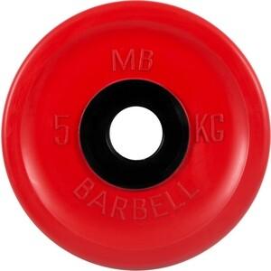 Диск обрезиненный MB Barbell 51 мм 5 кг красный Евро-Классик (Олимпийский)