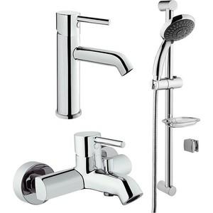 Комплект смесителей Vitra Minimax S для раковины, ванны, душевой гарнитур (A49153EXP)